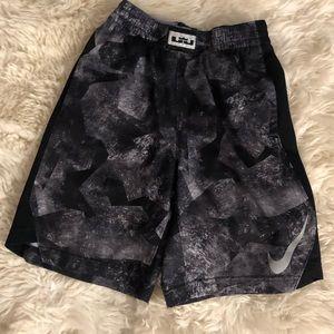 Nike Boys Lebron Gray Short - L